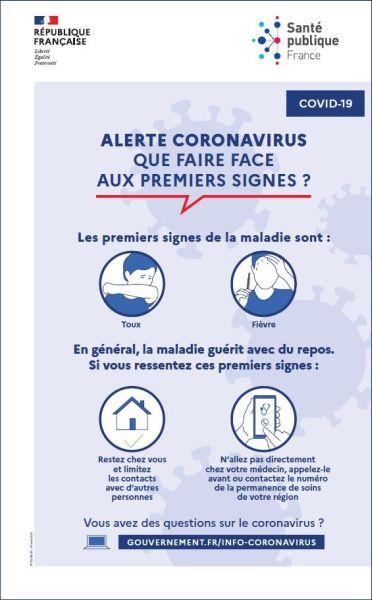 Alerte Coronavirus- Ecole de Conduite Chartraine
